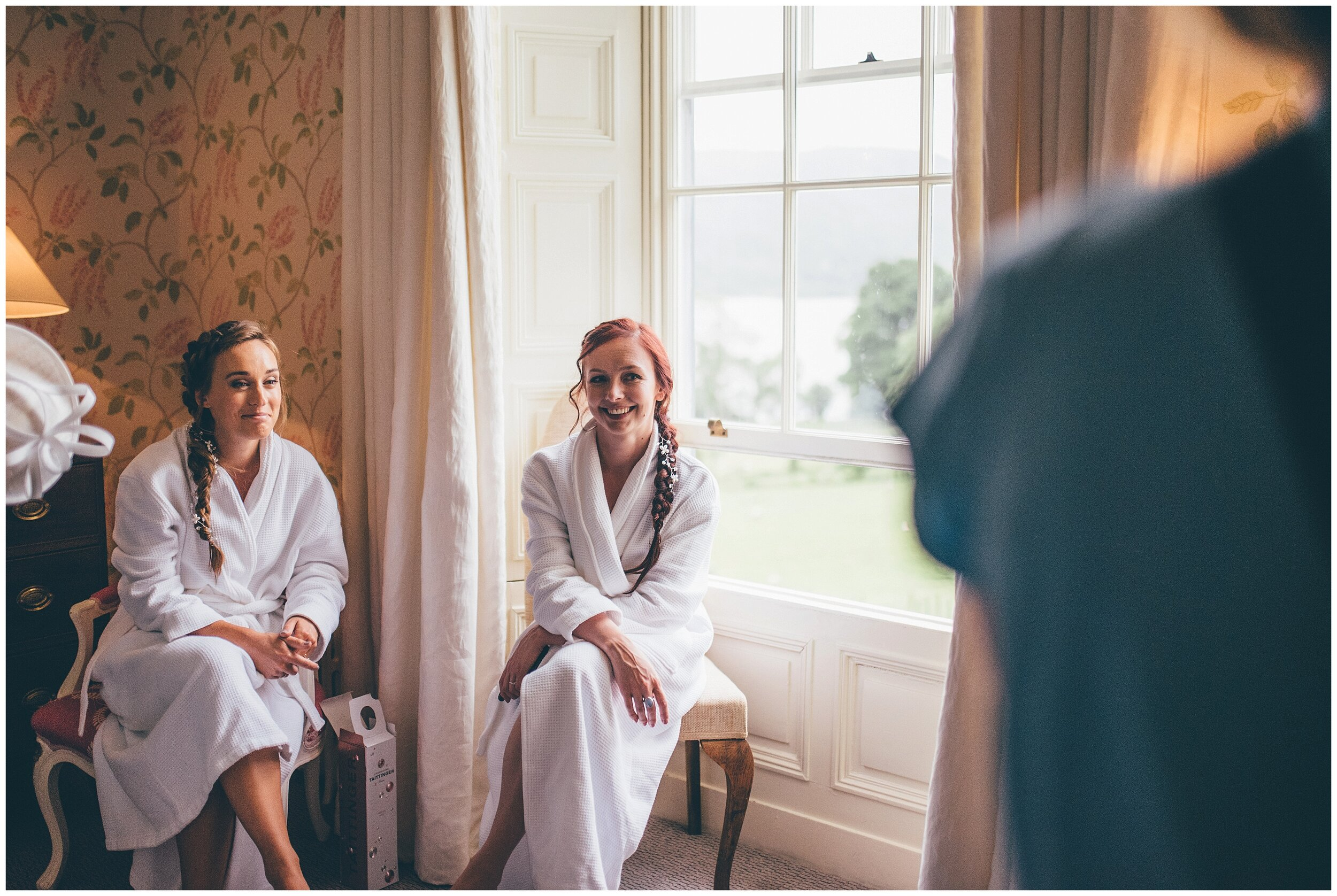 Beautiful bridesmaids enjoy the wedding morning at Silverholme Estate.