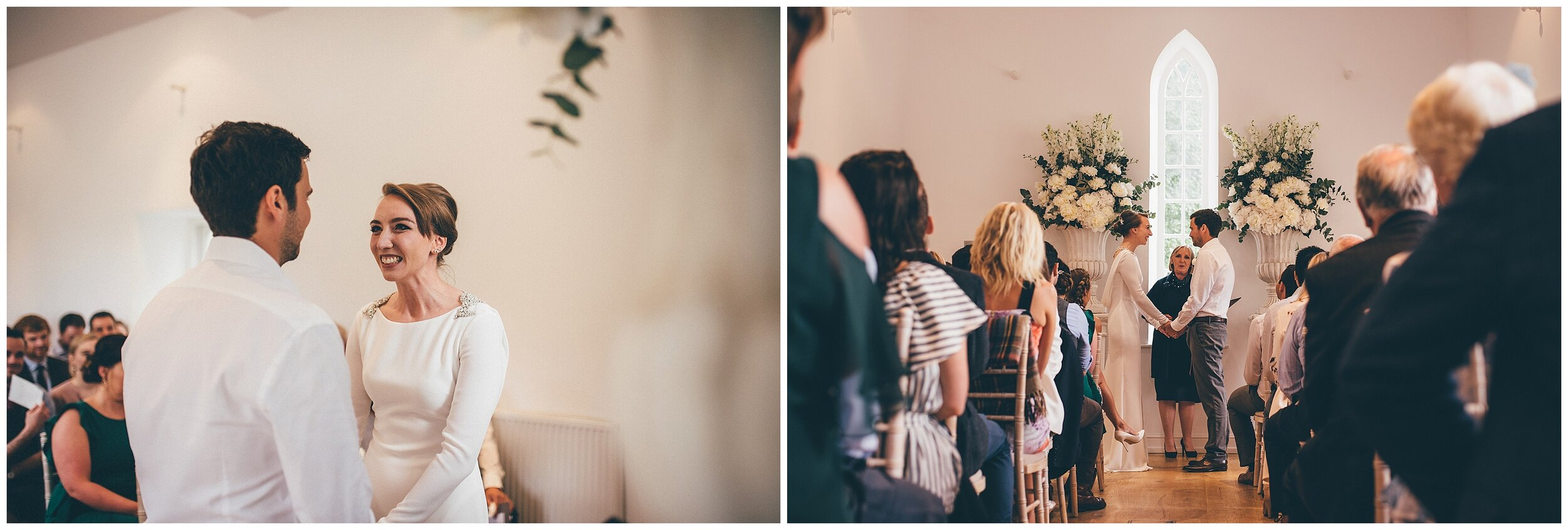 Wedding ceremony at Silverholme Manor at the Graythwaite Estate in the Lake district.