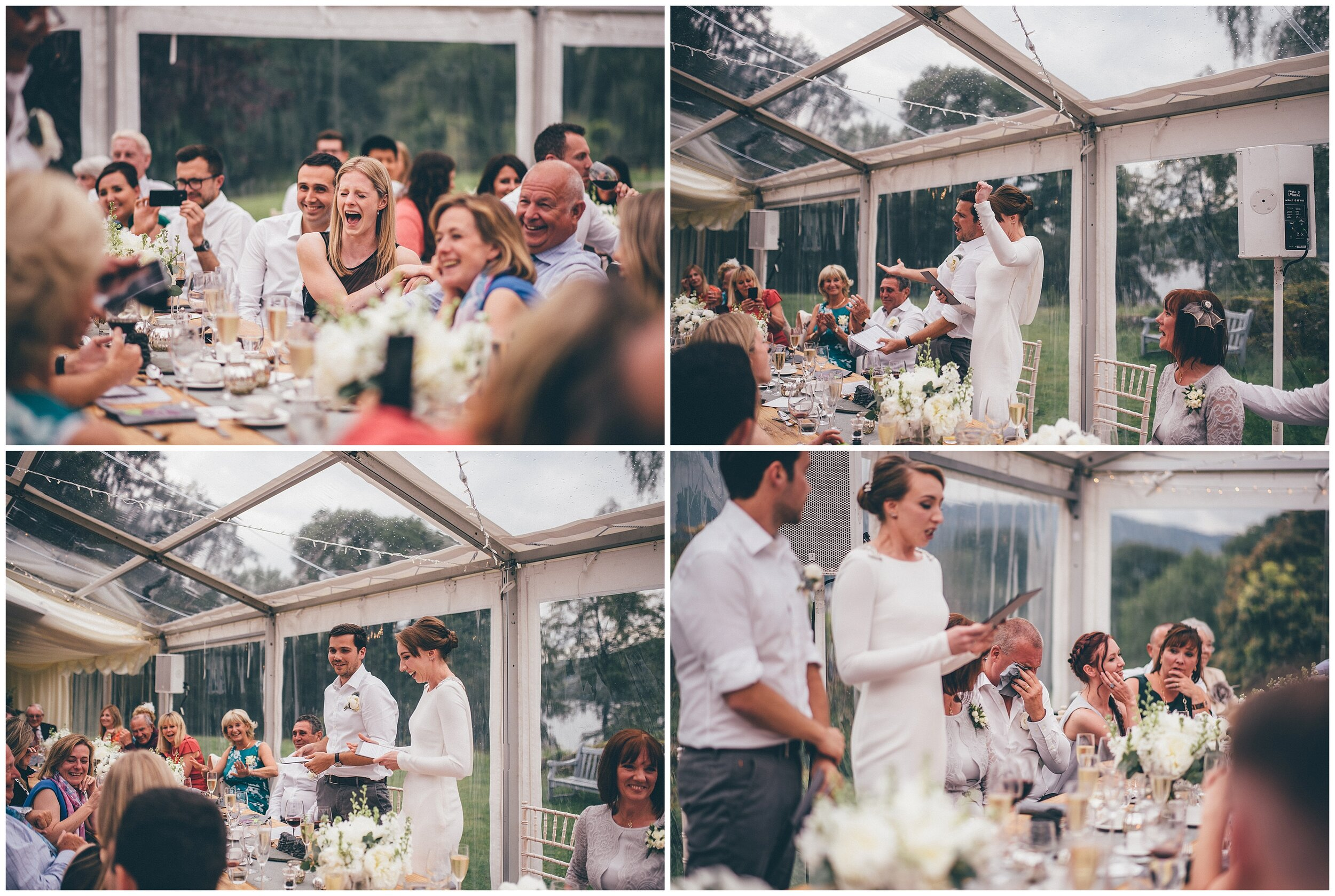 Wedding speeches at Silverholme Manor, Graythwaite Estate.
