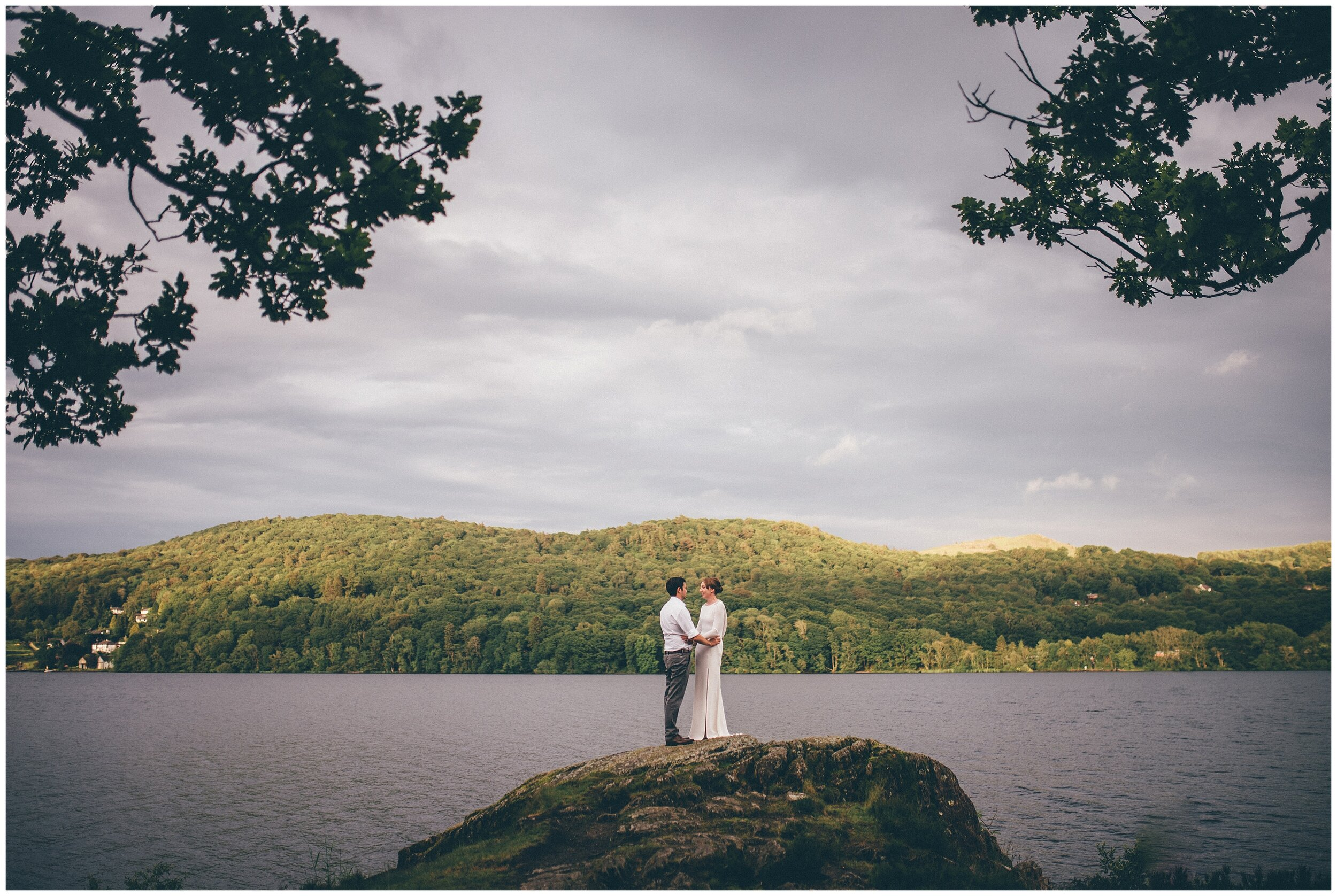 Wedding photography at Grubbins Point in the Lake District.