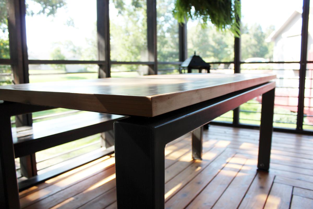 Custom Steel and Wood Table