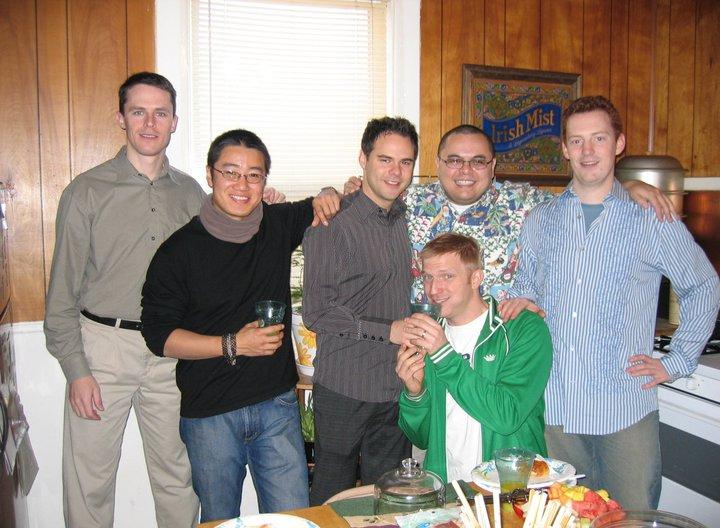 NEIL, DAVE, COREY, GABE, TOR & BEN (GREEN HOODIE)