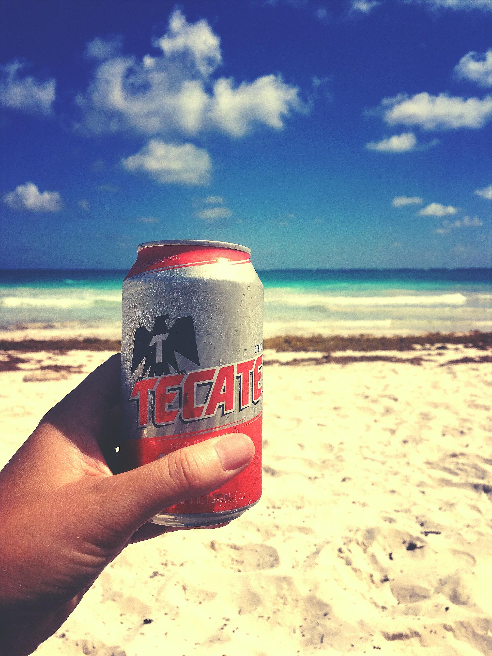 $1 Tecate Beer @ Playa Santa Fe