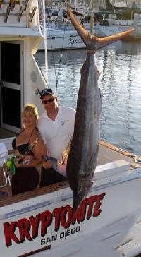 Bonnie Rose 1st Marlin by a woman