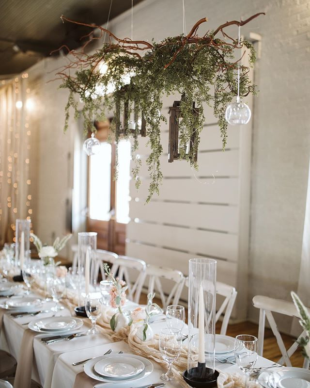 I am in awe all over again looking through the photos from yesterday. My favorite decor were these hanging floral/greenery pieces. @better2gather did an absolutely incredible job! It's so fun to see the unique styles and decor from each wedding, and to get to know the vendors in the community. It truly takes a village to throw a wedding! #forthewildones