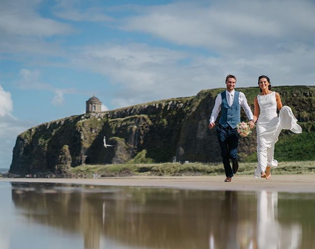 Catherine & Mark - Downhill Beach #downhillbeach #mussendentemple #weddingsnorthernireland #beach #bride #wedding @rosemary_wright @jillscakesni
