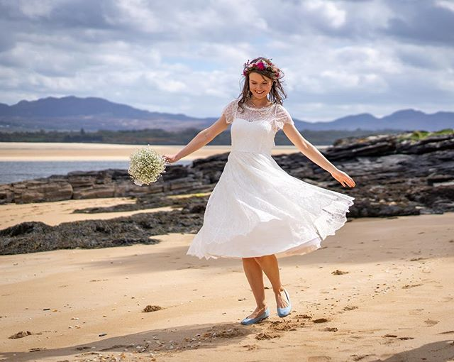 I shot this image of Caroline last weekend near the @shandonhotelspa. Stunning backdrops!  #marblehill #donegal #bride #wedding #donegal #sony #sonya7iii