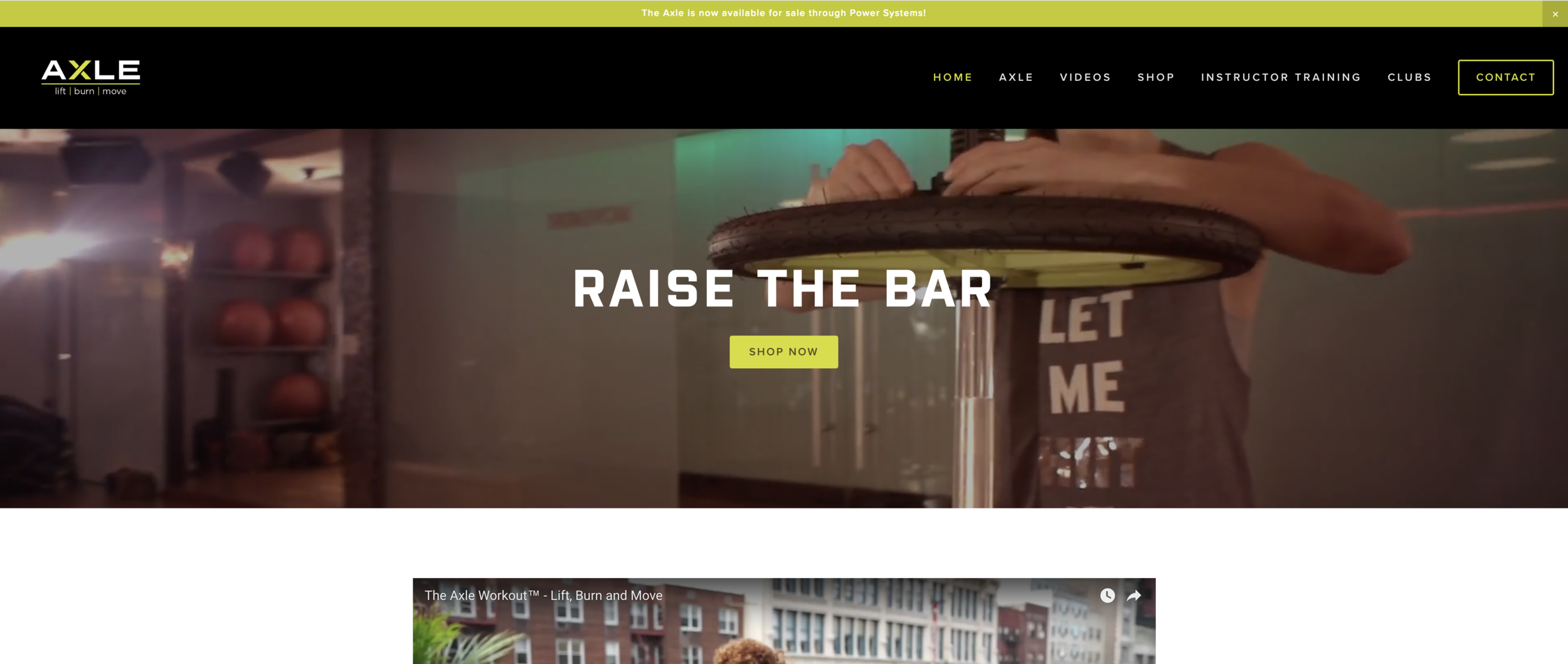 The Axleworkout website and design