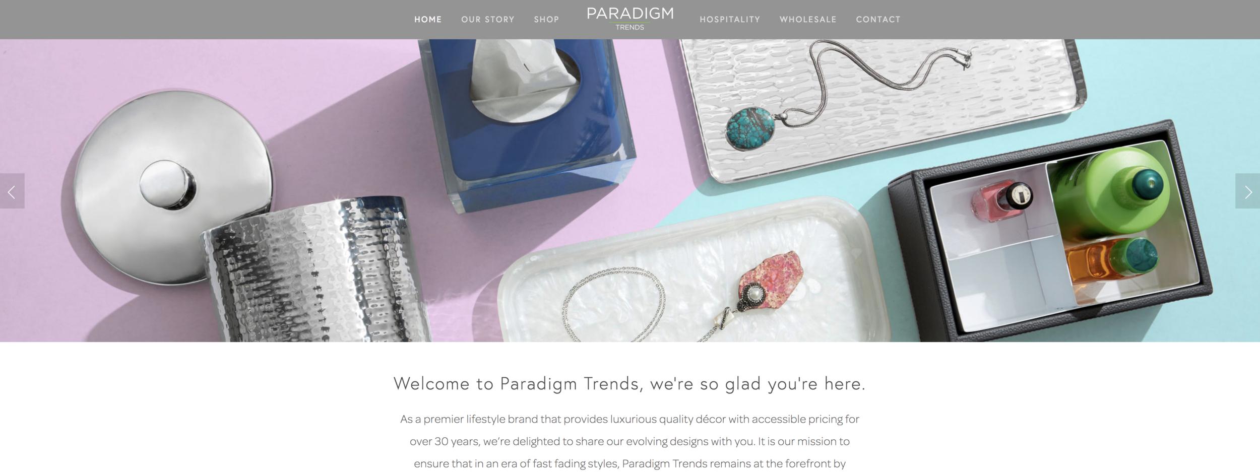 Paradigm Trends creative, website and design