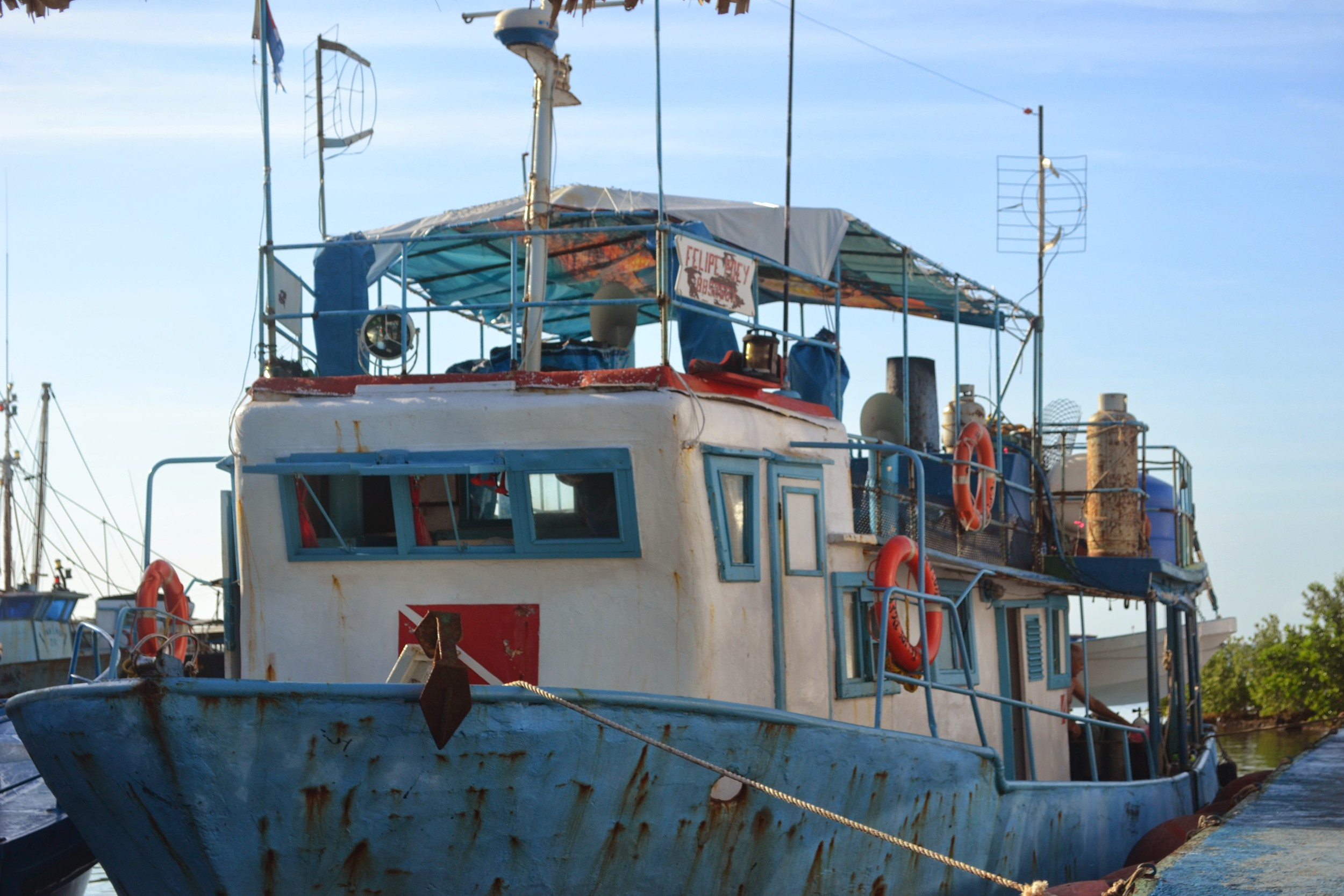 R/V Felipe Poey, a Cuban converted 1950s fishing trawler and my home for a week in October 2013.