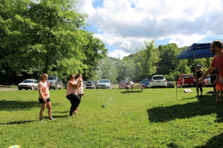 CCJ Staff and Board members enjoy a water balloon fight at Ryerson