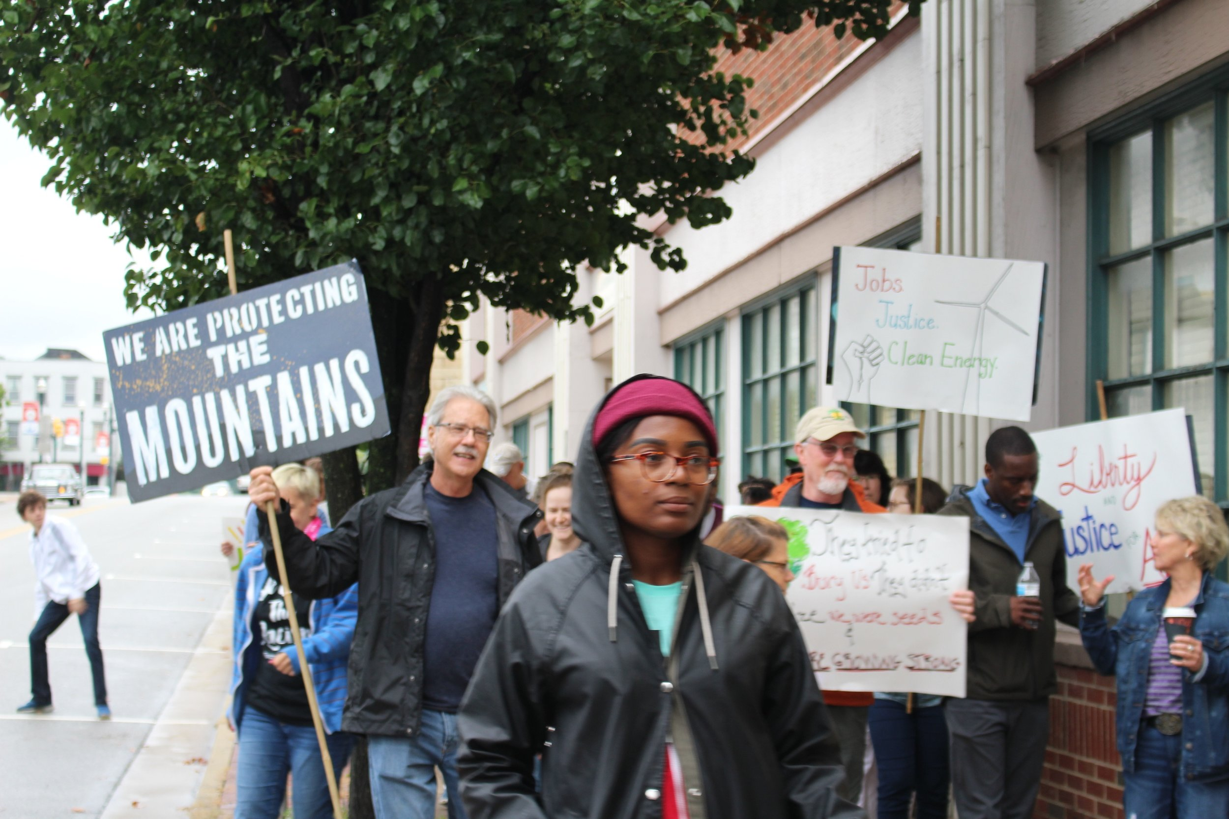 Photo of people at Washington, PA Peoples Climate, Jobs, and Justice March.