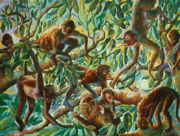 MONKEYS  by artist Suzanne Deveuve