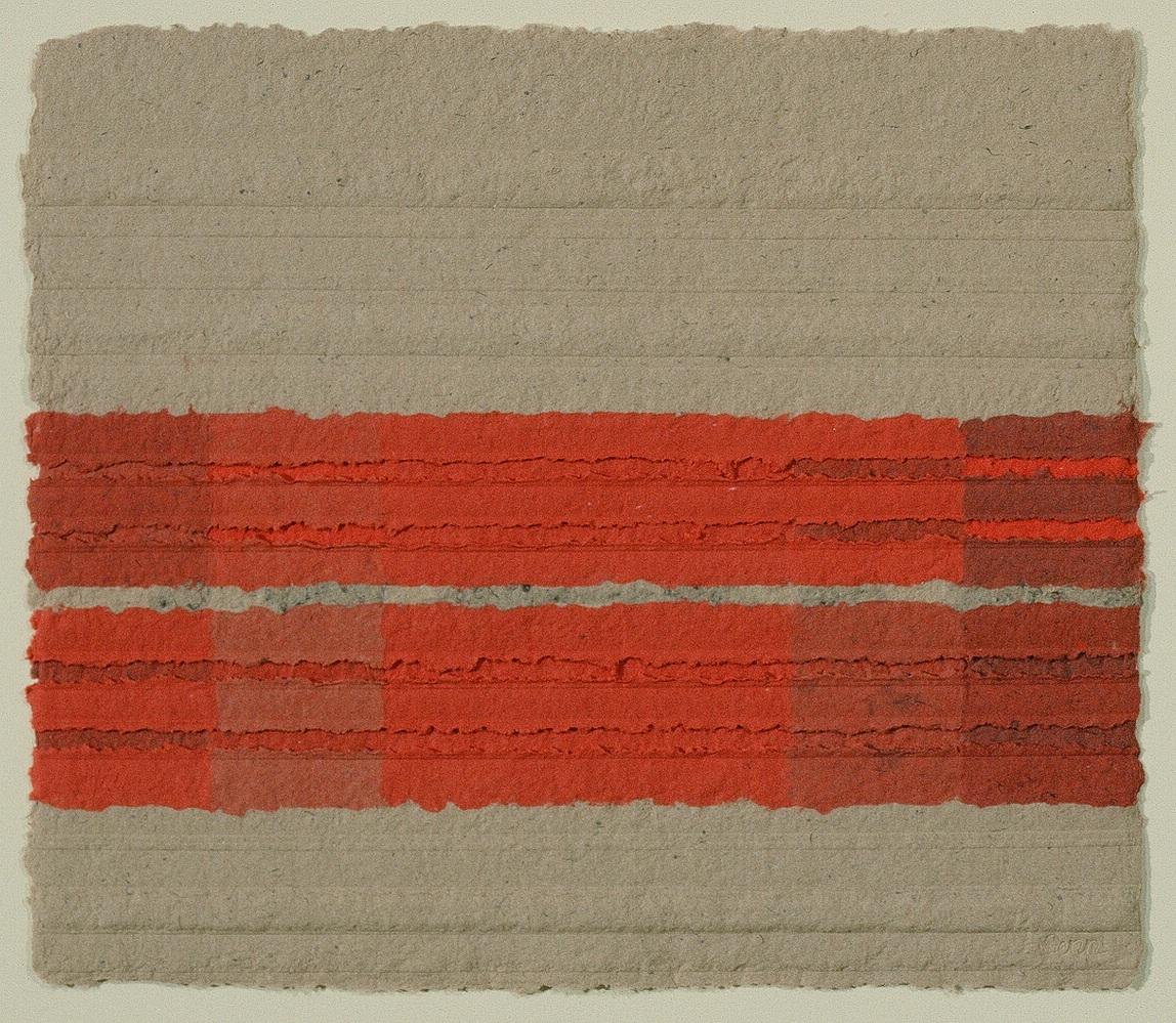 """SEDONA #16    Hand made paper    28"""" x 32"""""""