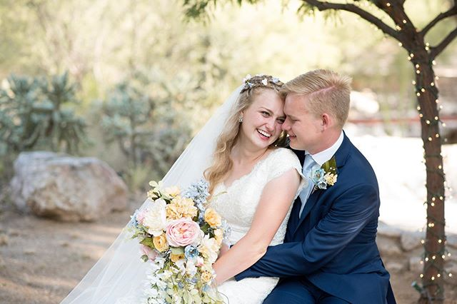The weather was perfect, Arizona was gorgeous, and these two were so happy on their wedding day. Grant and Symmony sure make a beautiful couple. Can't wait to show you more from their beautiful day!