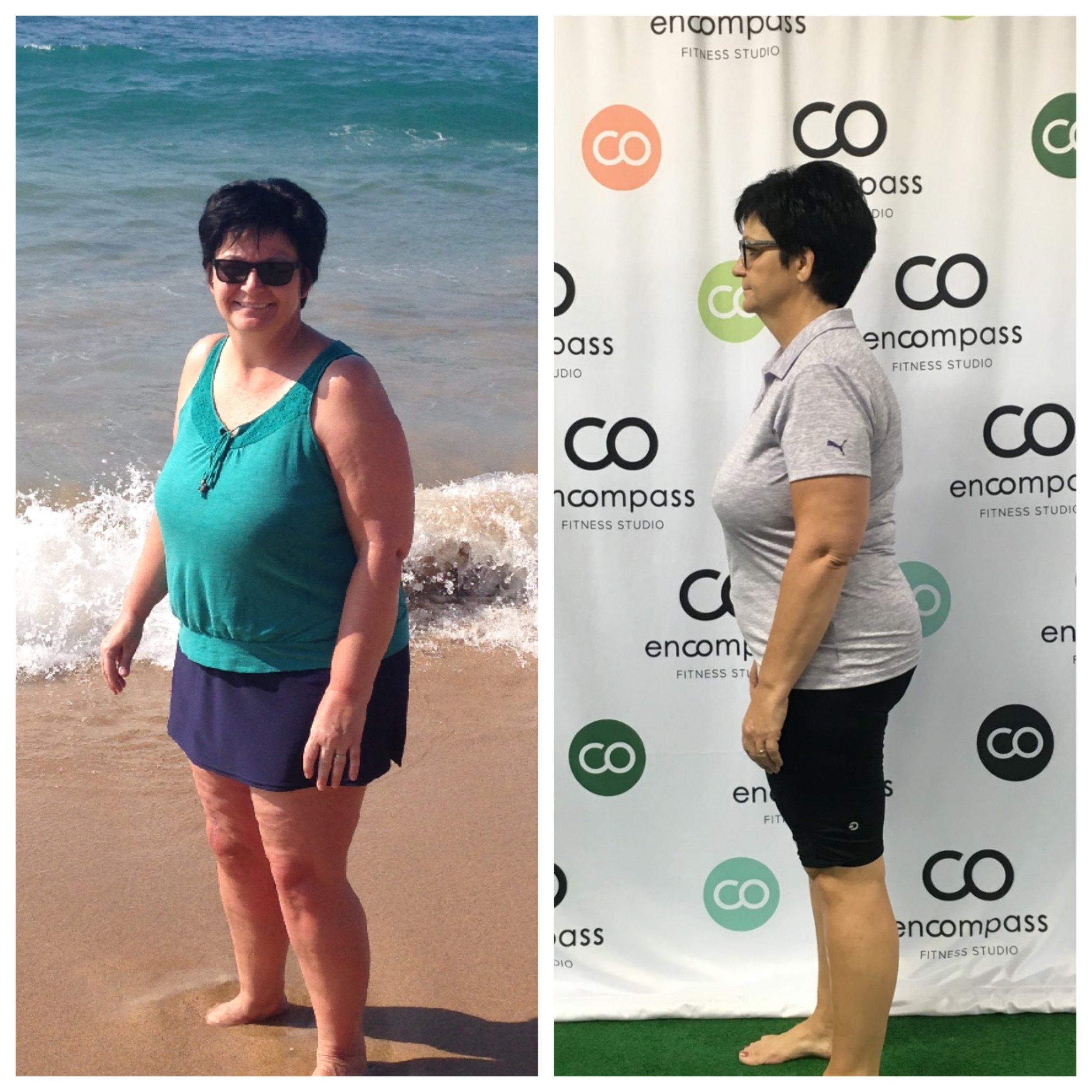 Sharon joined Encompass just over one year ago to help her recover after knee surgery. Now, she is stronger than ever, has lost over 30 pounds of fat and 18 inches, and has gained back the confidence and energy to approach life without fear of her abilities holding her back!