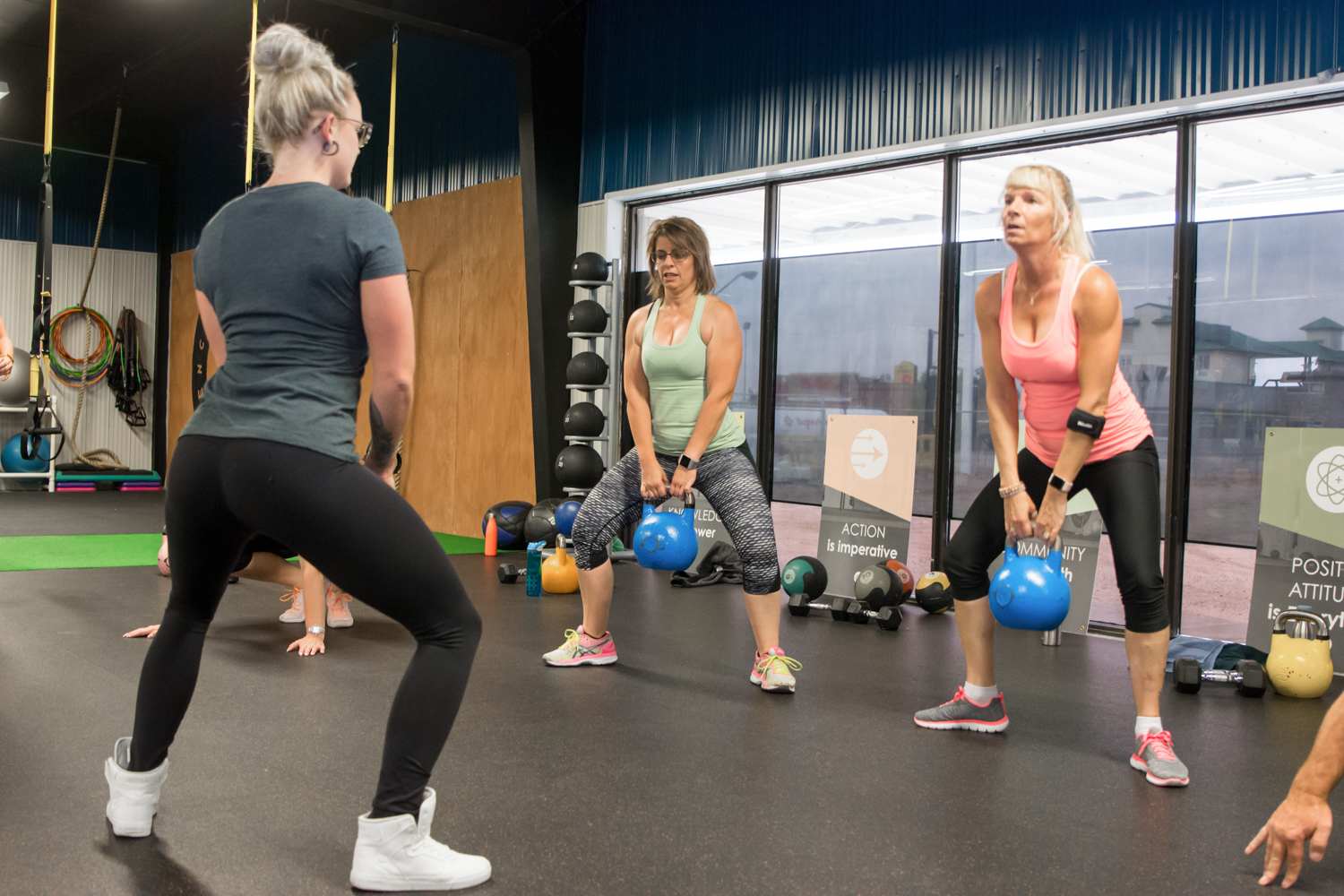 semi private training with kettle bells at encompass fitness