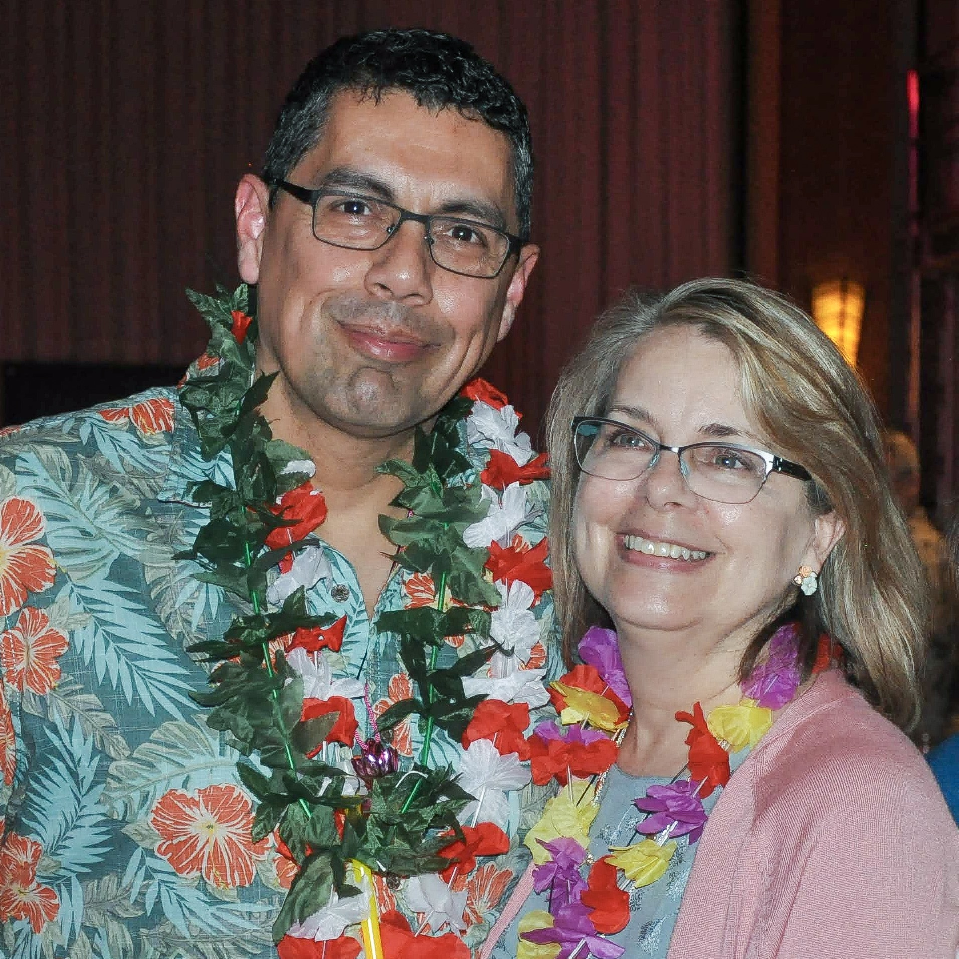 Roy Villalon, Apparel Manager at Fred Meyer Redmond with his wife.