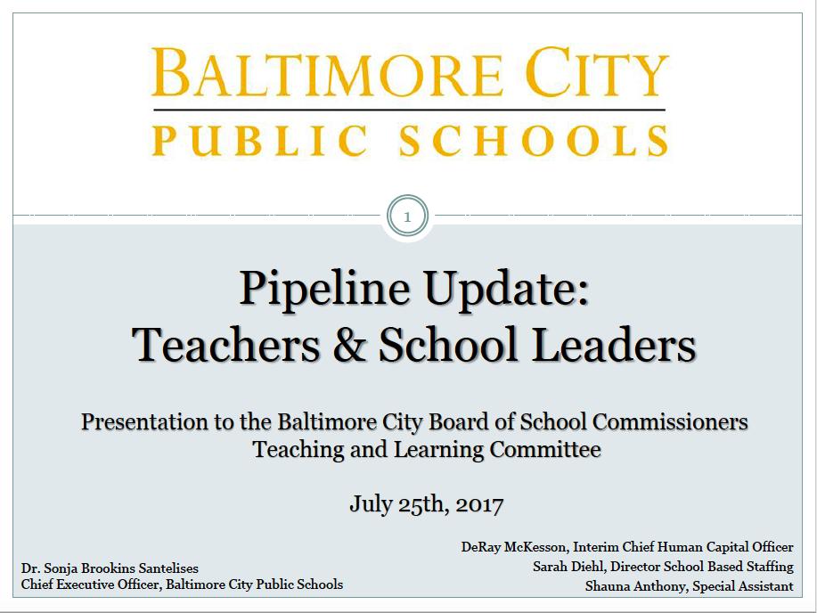BCPSS teacher pipeline
