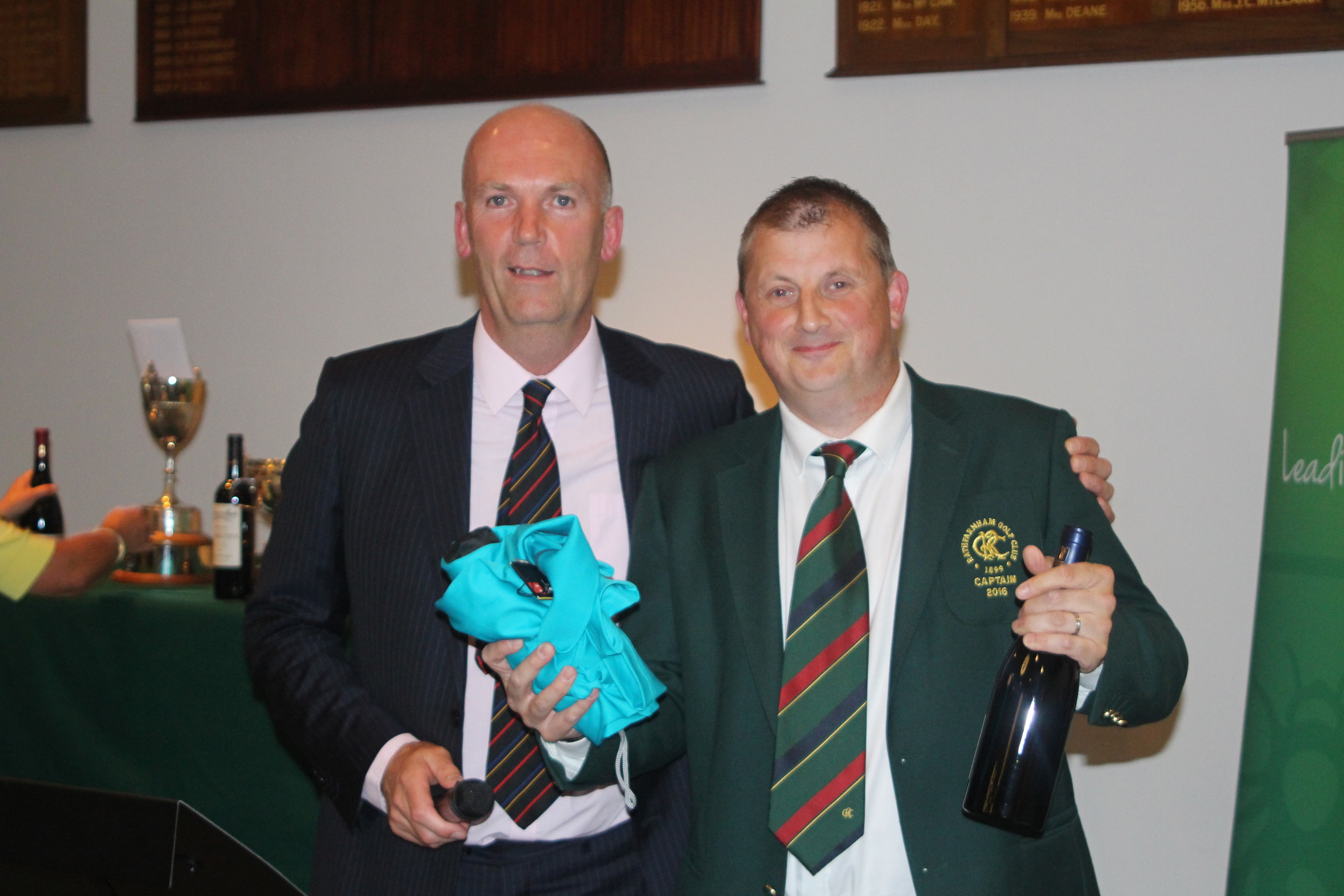 John Gillis with Alan Hood RGC Club Captain