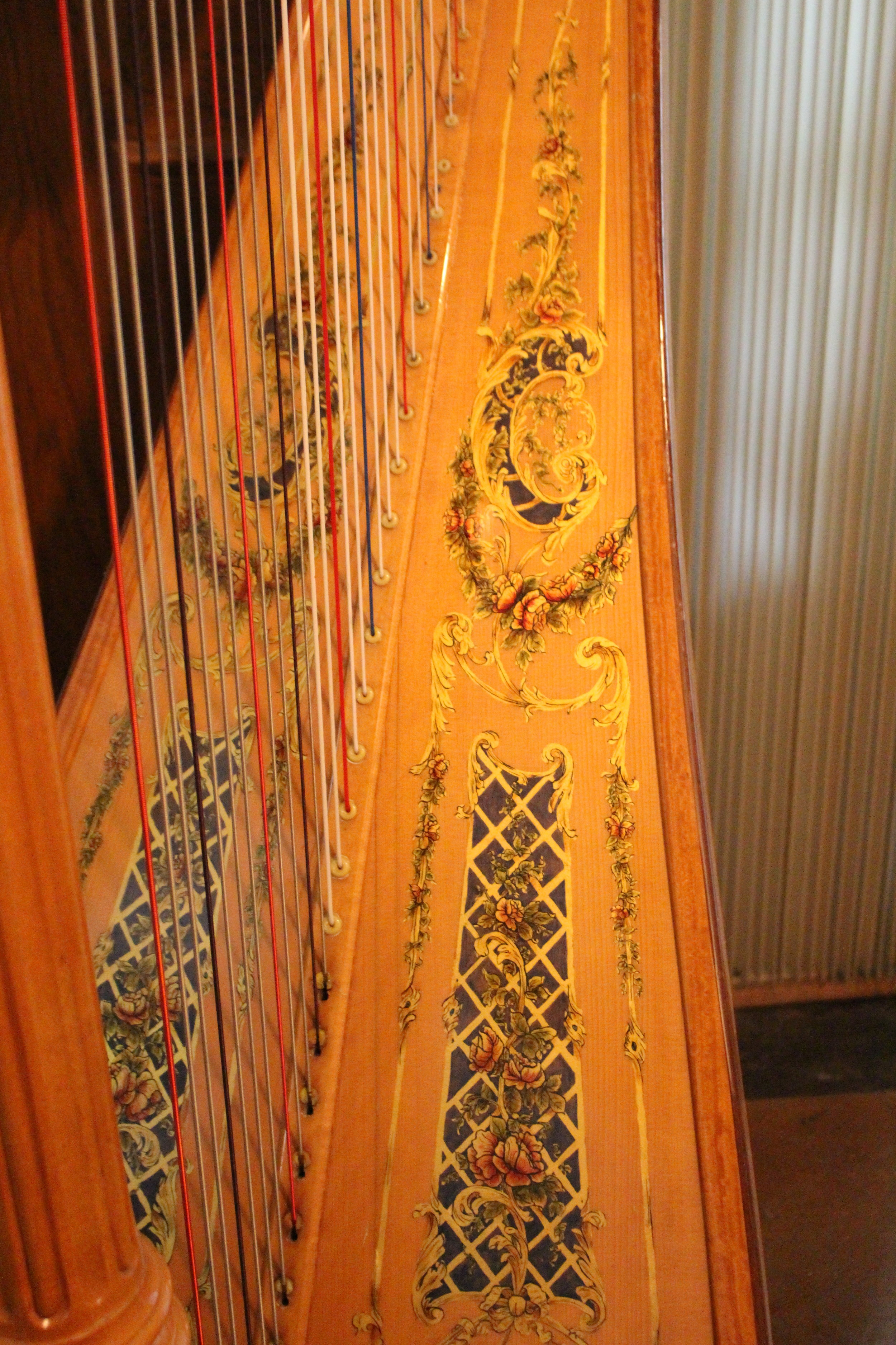 This harp took nearly 100 hours for David to paint!