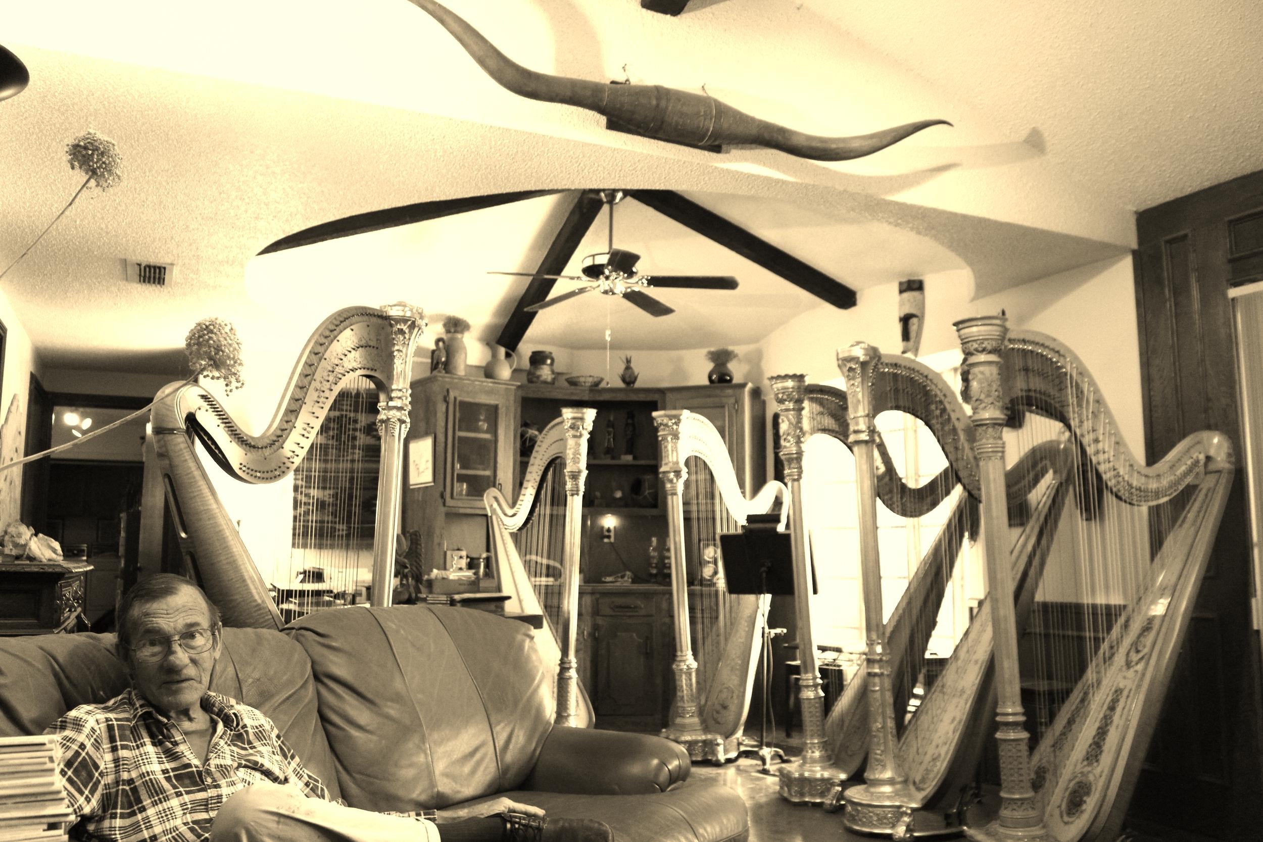 An unusual living room!