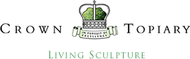 Crown Topiary Lining Sculptures