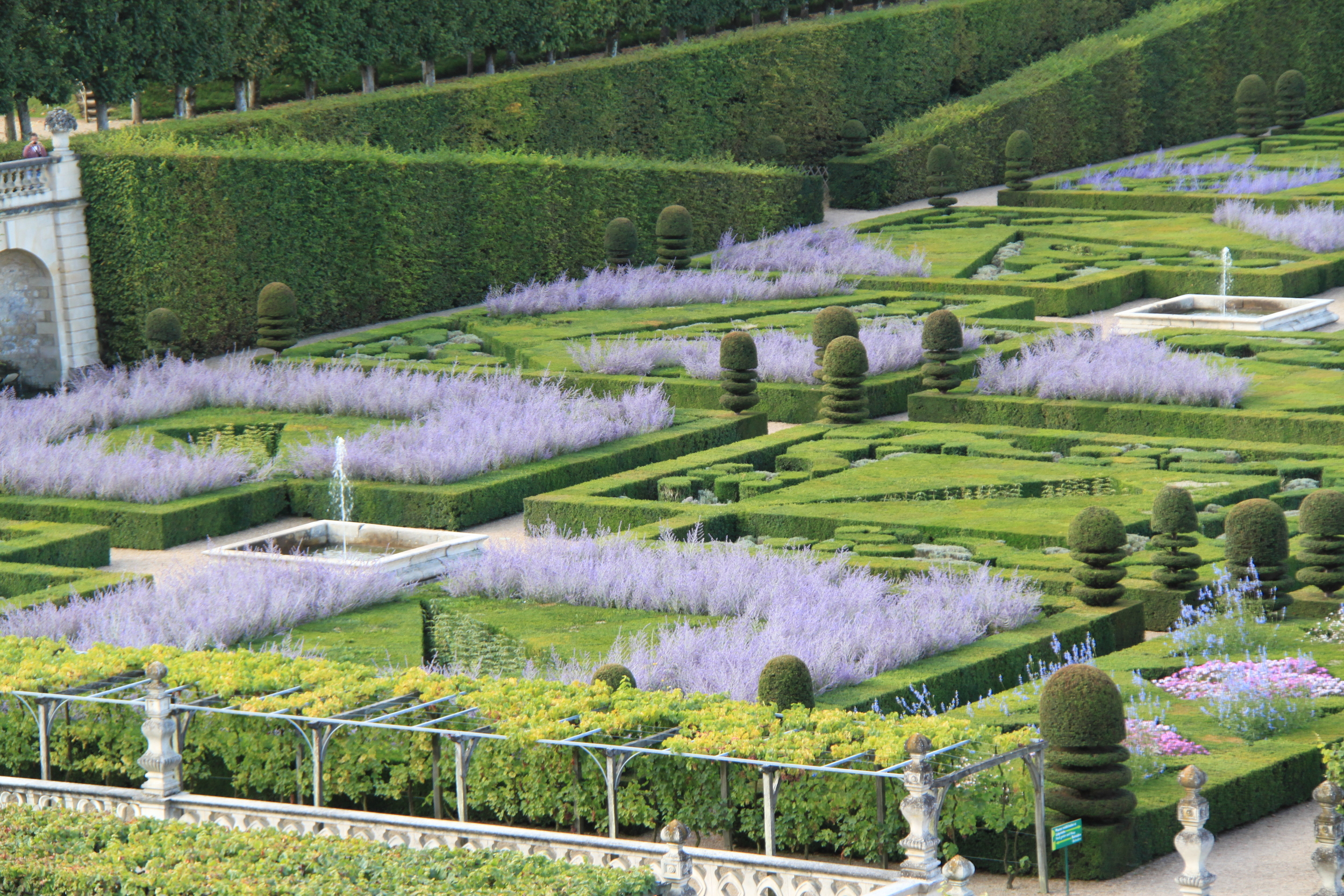 Villandry on the corner of the parterre