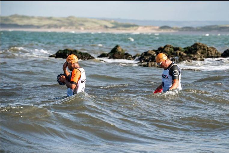 Breca Gower Swimrun swimming