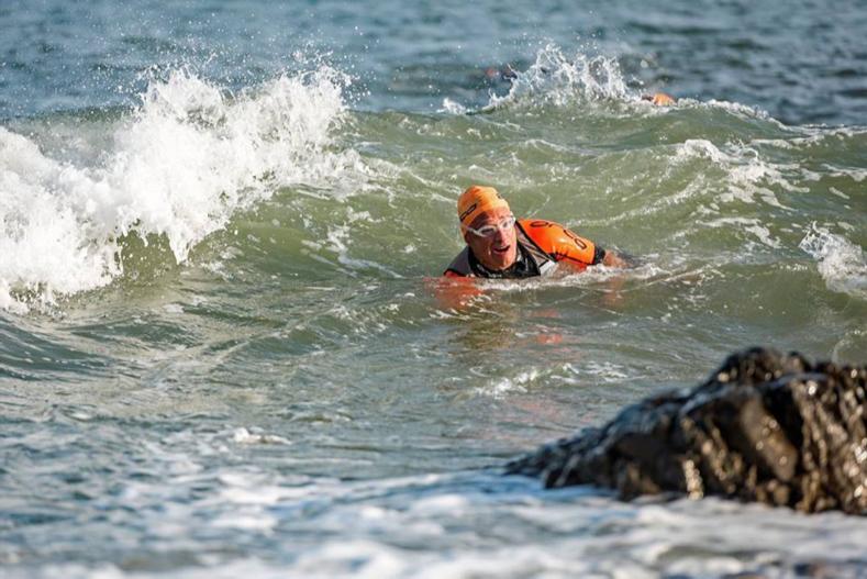 Breca Gower swimrun waves