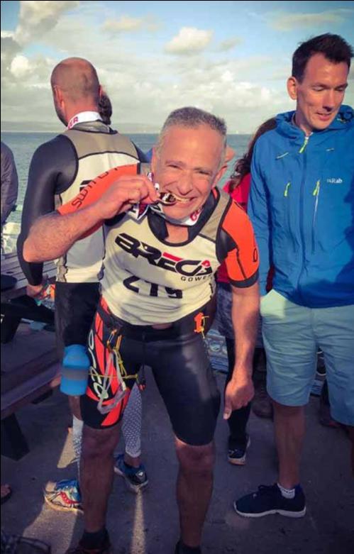 Breca Gower swimrun medal