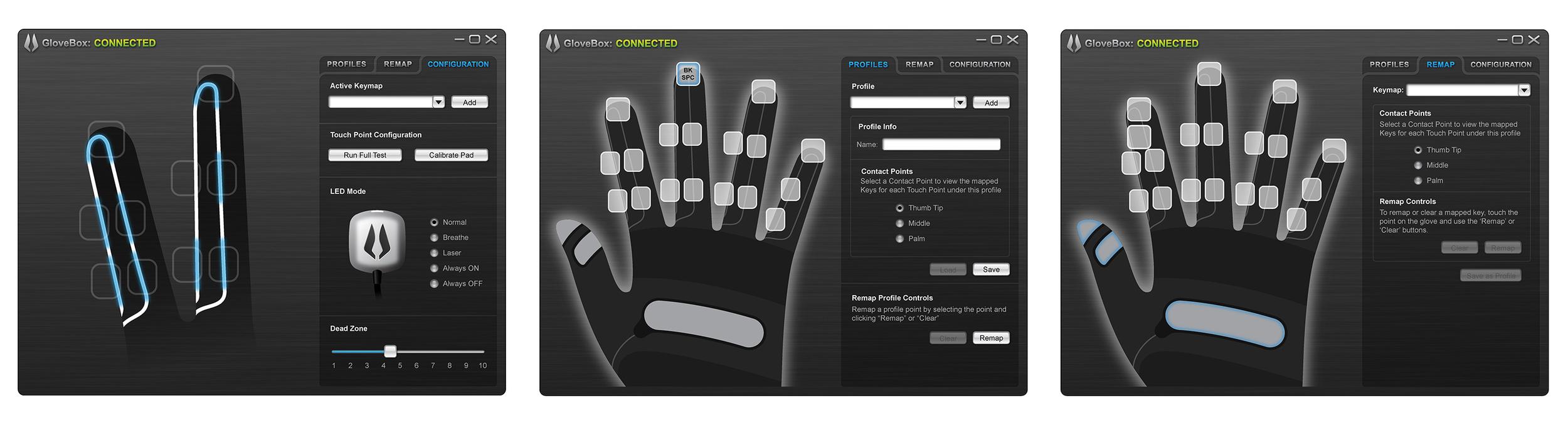 Peregrine Interface Screens - Y Studios