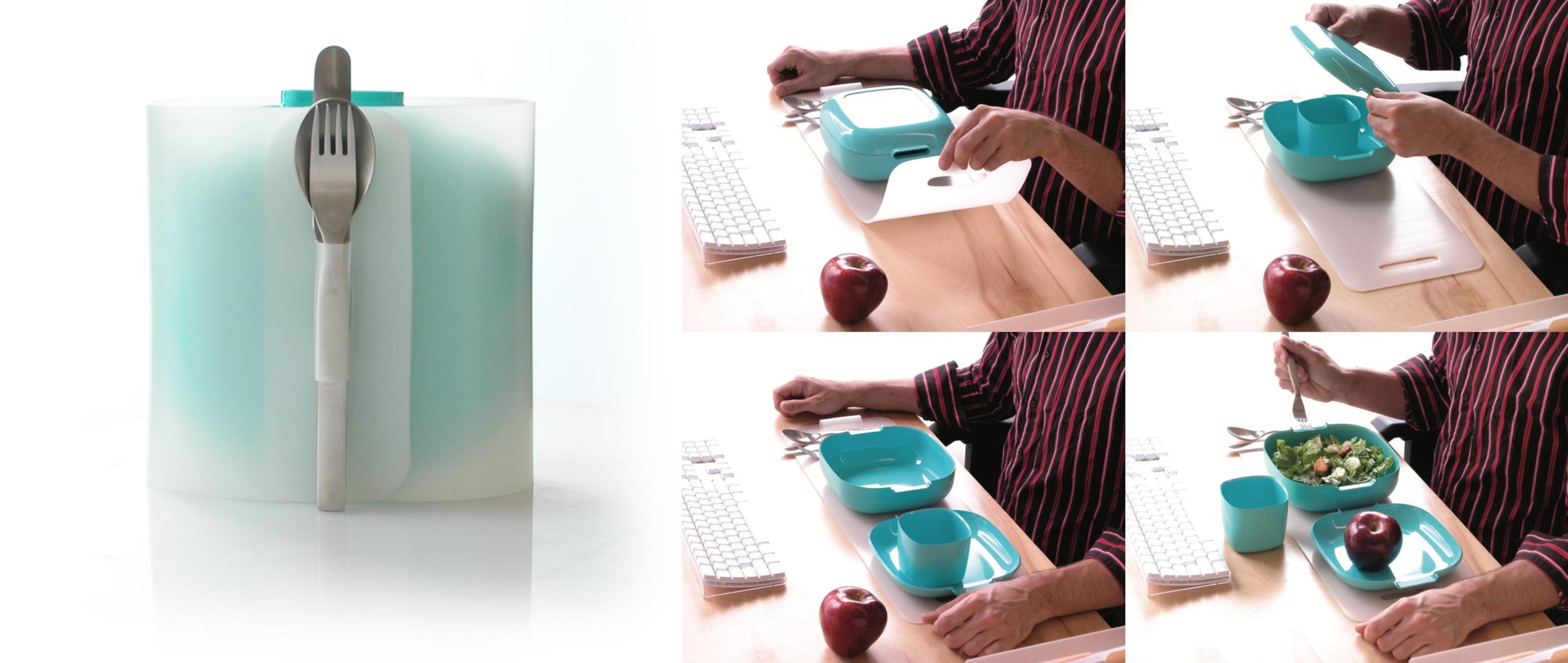 Workplace Dish Set for Vessel Inc. by Y Studios