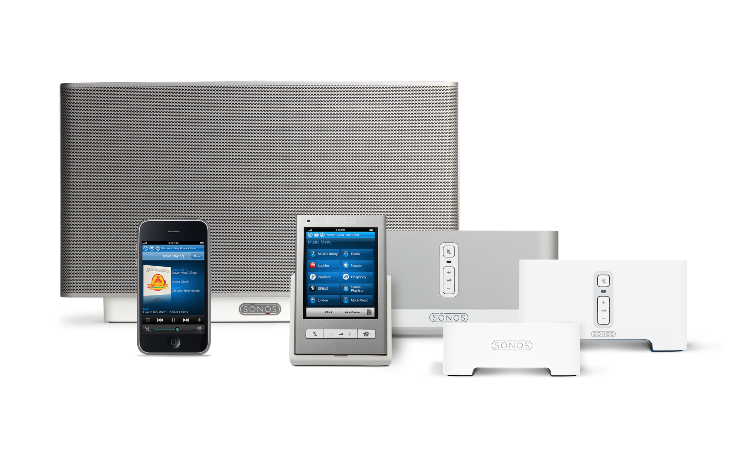 The first generation Sonos family of products designed by Y Studios