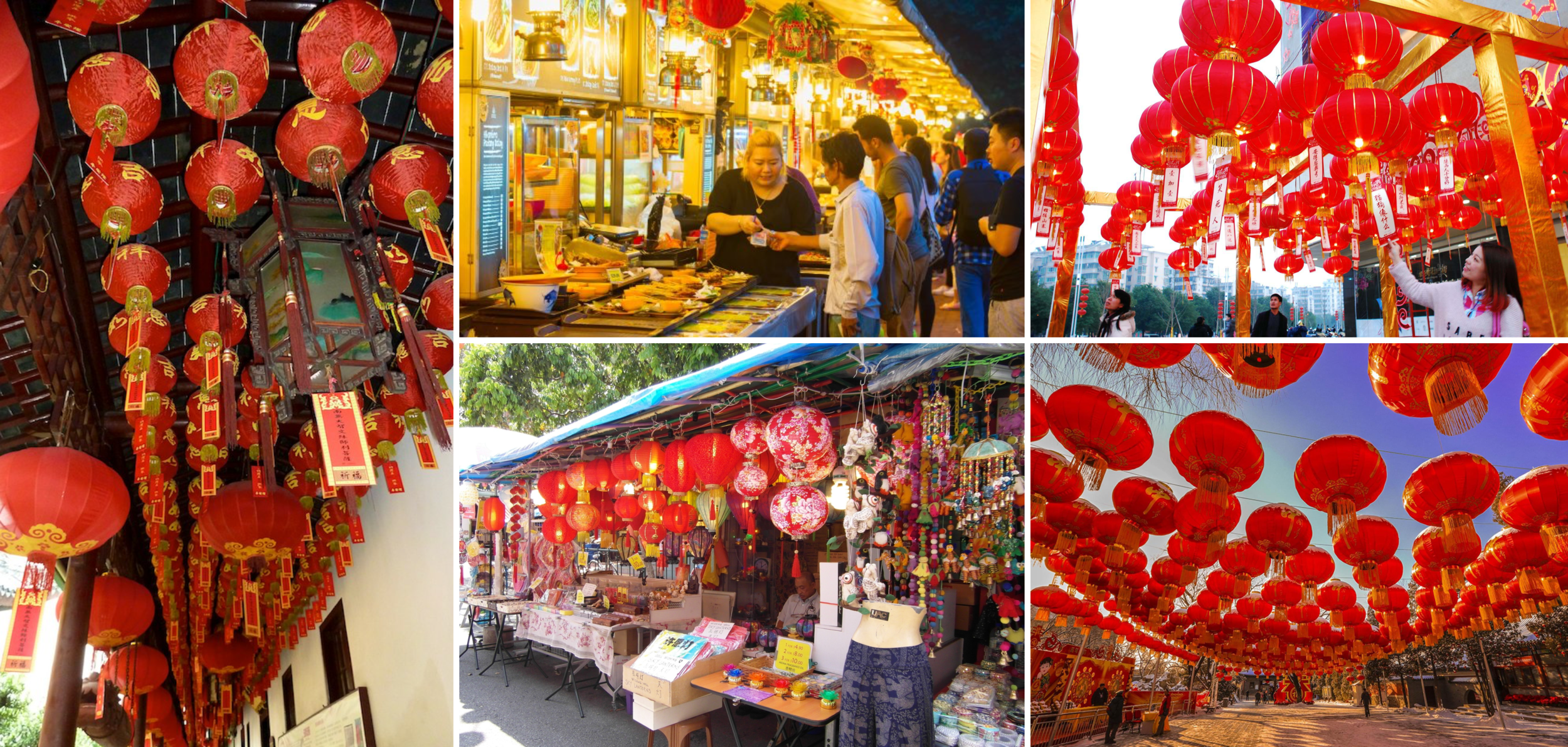 The reality of red Chinese lanterns