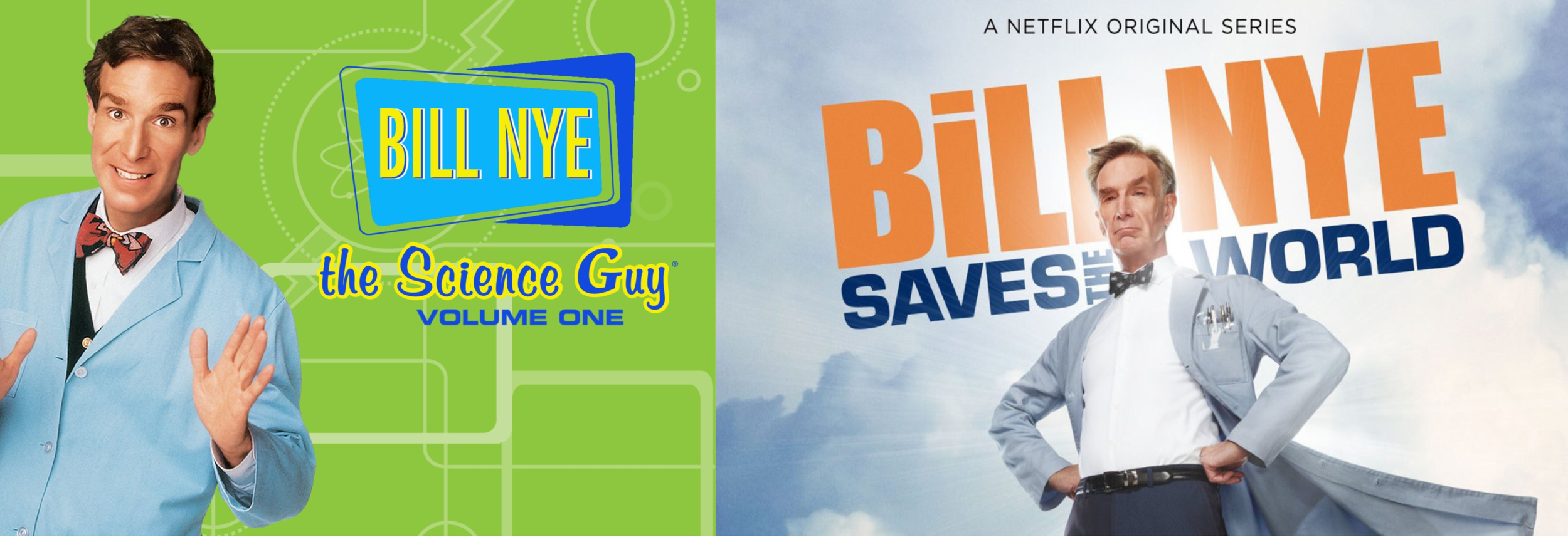 The original Bill Nye, the Science Guy on Disney in the nineties, now back and streaming on Netflix in 2017.