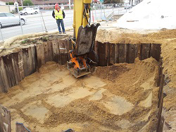 UST Pit Backfill in Shored Excavation