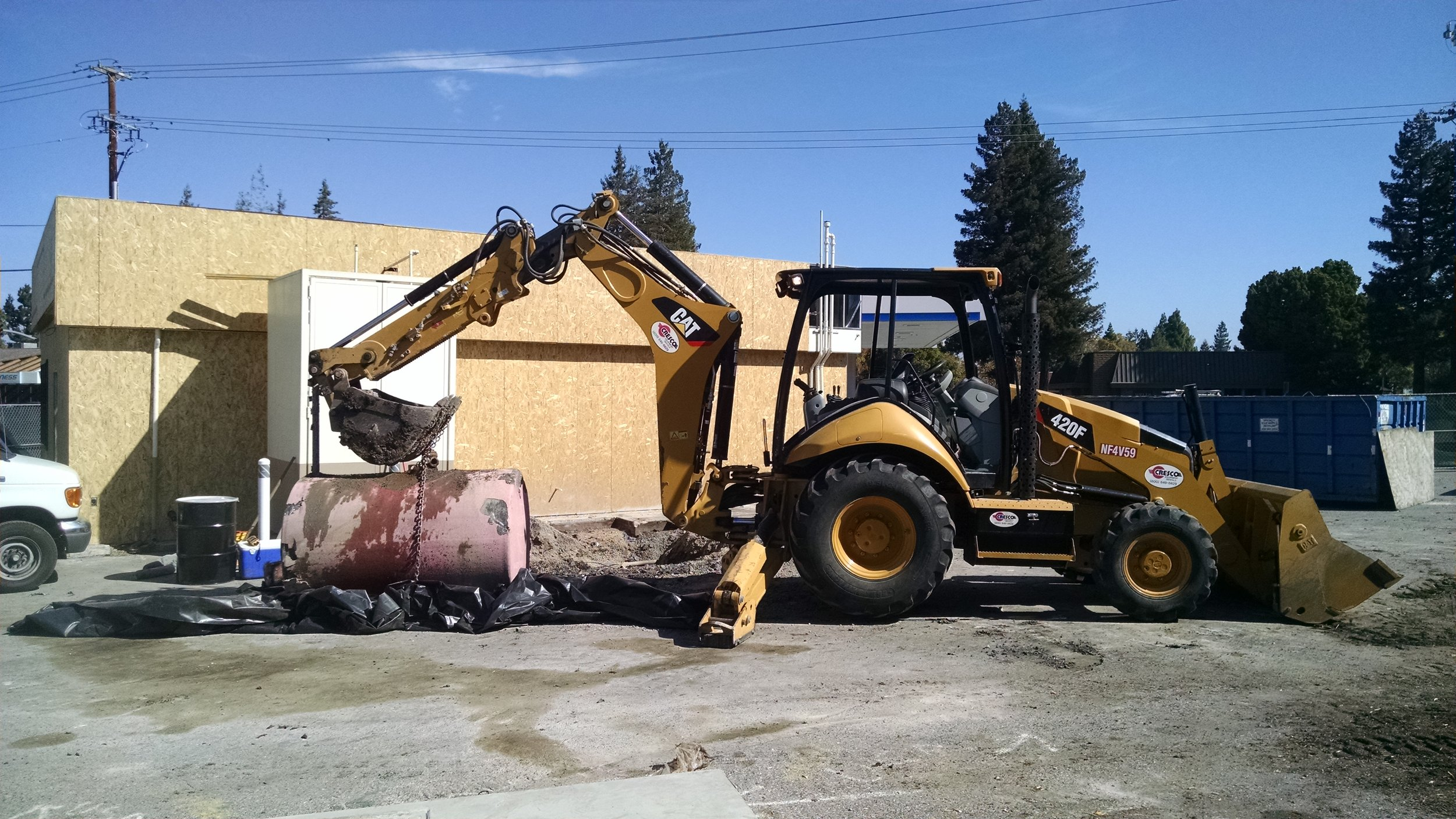 Service station upgrades, hoist removal, and waste oil underground storage tank removal