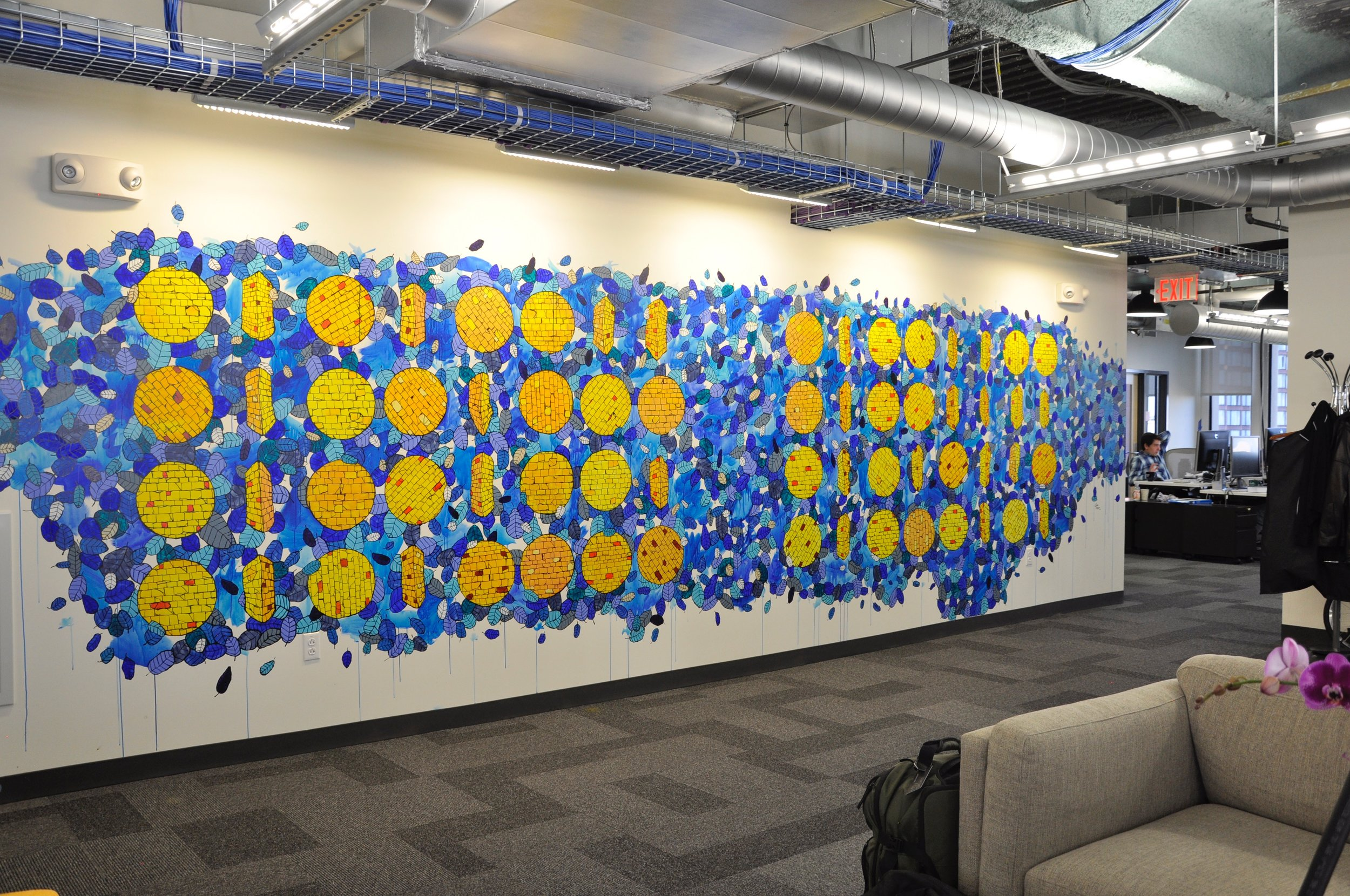 SHIP LOVE (binary code) at Facebook's Cambridge MA office, 2016
