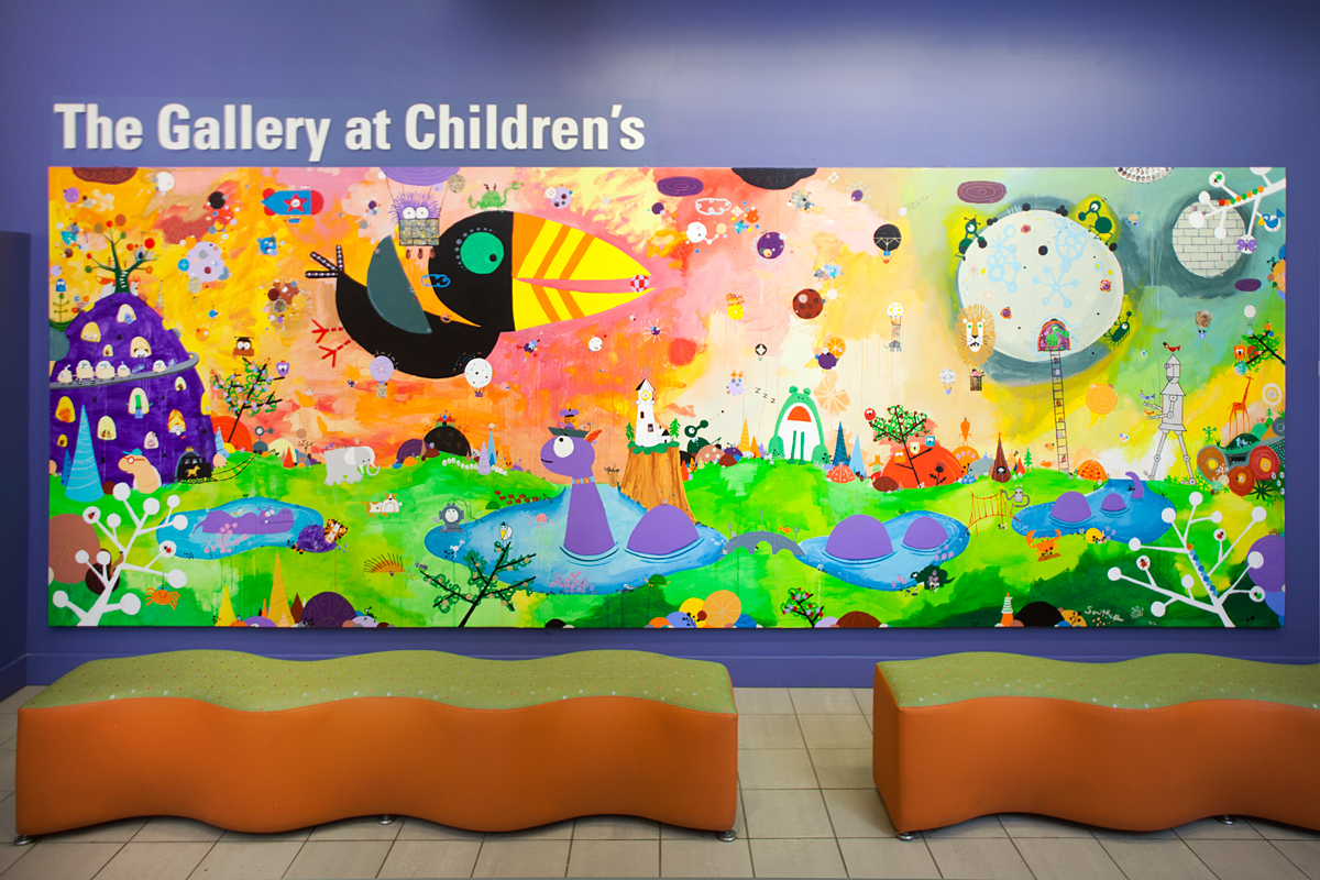 Ed Emberley tribute collaboration with Souther Salazar at Children's Hospital Boston, 2012