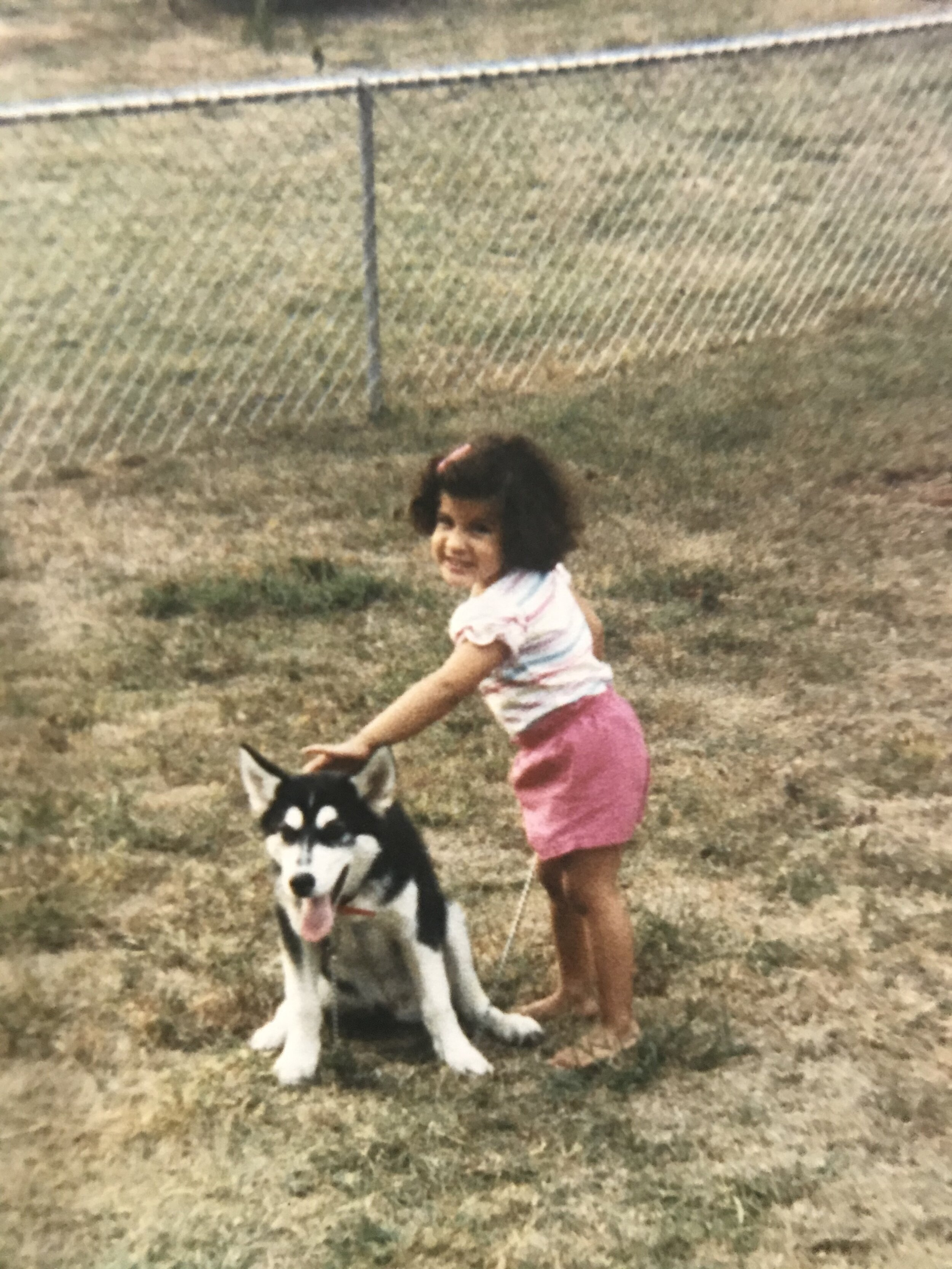 This is Sabre, my aunt's Siberian Husky who I grew up with. We were and still are connected in a way that's hard to put into words.
