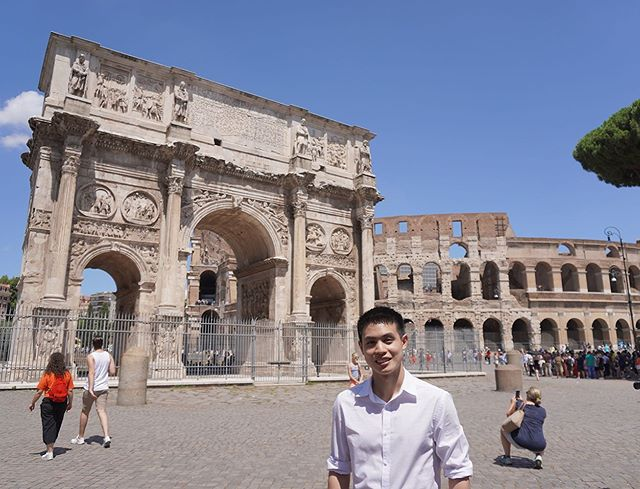 "Where in the World is MISC? Activity Team member Mickey Thamrongvithavatpong is currently in Italy exploring its historic and beautiful sites. Here is in Rome near the Arch of Constantine and the Colosseum. ""One of the things I always enjoy is traveling to new places I have never been,"" he said. ""It is wonderful to see different cultures in different parts of the world. It is also challenging when I have to deal with uncertainty and unexpected circumstances while I am abroad."" #WhereintheWorldisMISC 🌎"