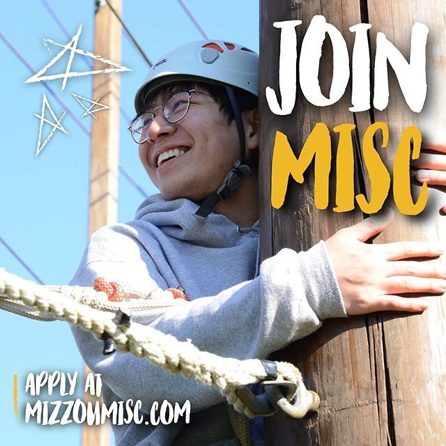 APPLICATIONS ARE NOW OPEN! •  Join our family of diverse students from around the world hoping to make Mizzou a more inclusive and comfortable place for international and domestic students alike! Students from both domestic and international backgrounds are encouraged to apply. MISC WANTS YOU! •  Apply at:  https://www.mizzoumisc.com/joinus