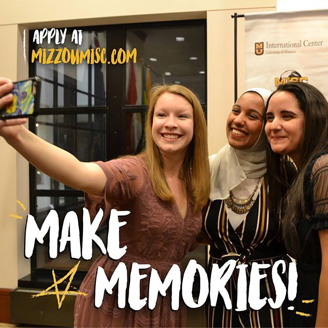 Join MISC and make memories that will last a lifetime!  Applications to join MISC are now open and we want YOU to apply! Whether you like planning events or working with social media, we have a place for you in MISC. Both domestic and international students are encouraged to apply.  Apply at: mizzoumisc.com/joinus!  #miscwantsyou #recruitment