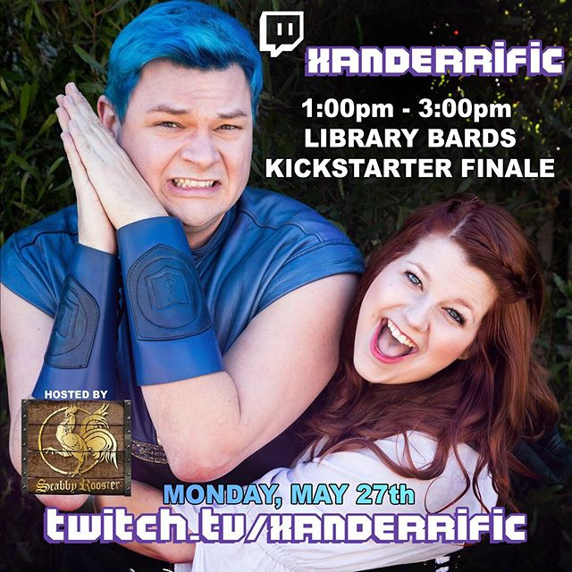 TODAY! Join us at 1pm-3pm PT to watch the last few hours of our Kickstarter!  Will the final stretch goal be reached?! Will @bonniebellg get to permanently brand @xanderiffic?!?! Tune in to watch!  Plus games and behind the scenes epicness!  It's time to #GetBomBARDed  http://bit.ly/bomBARDed