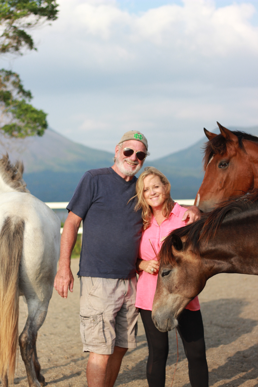 Z and me with the horses.jpg