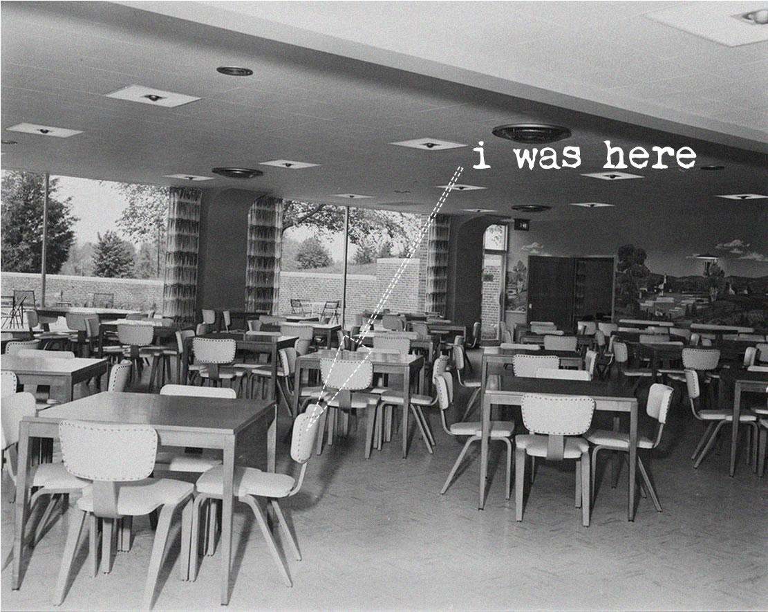 i was here plain bw menninger cafeteria arrowsm.jpg