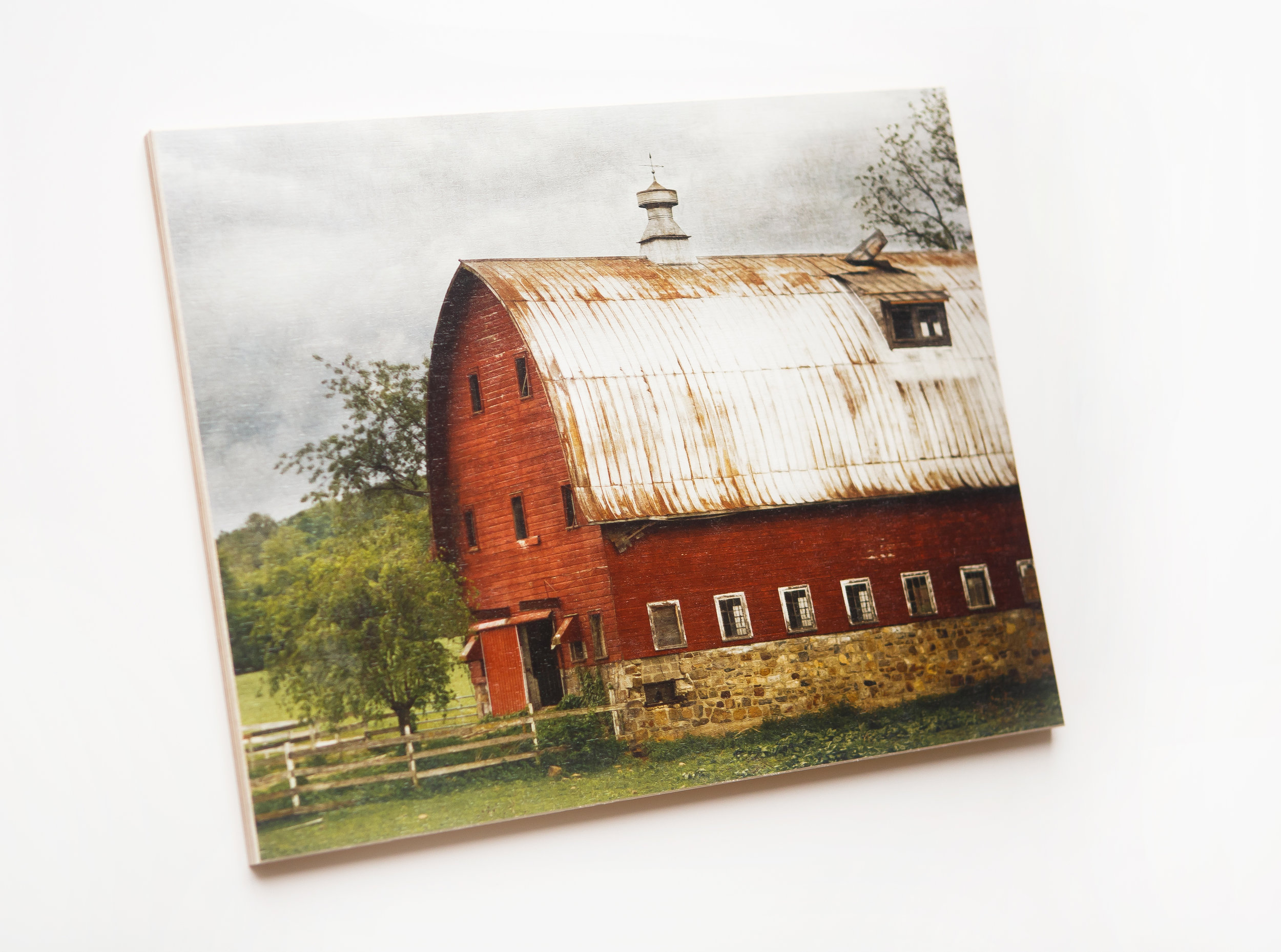 Introducing wood prints - Your image is printed directly onto high-quality laminated wood. The wood will show through the white and light areas of your image, creating a rustic, vintage look. Each print is unique, due to the natural characteristics of the wood and the finished product looks almost like a painting.