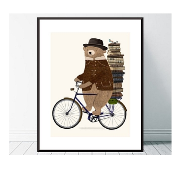 He has a whole section of cute animals on bikes and they are adorable!