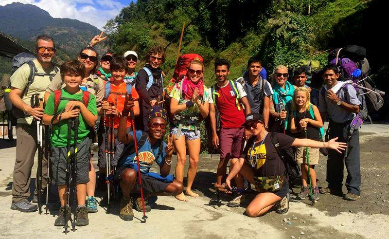 Our 2017 Trekking team in the lowlands, at the beginning of their journey!
